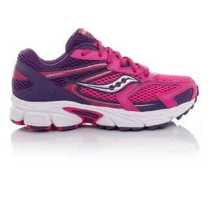 Saucony Girl's Pink Purple Cohesion 9 LLT Seankers